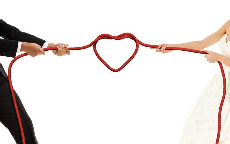 serce, para młoda, przeciąganie liny