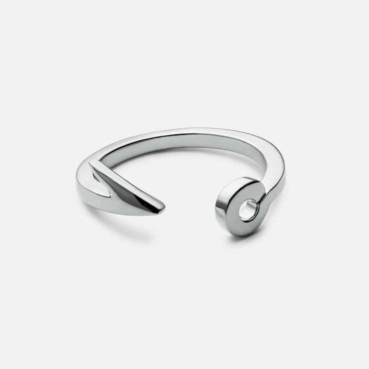 FISH HOOK RING, STERLING-SILVER