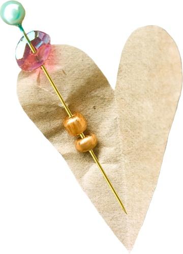 скрап_клипарт — «NLD Paper heart with pin.png» на Яндекс.Фотках