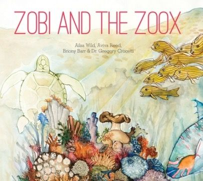 The cover from our new science adventure storybook Zobi and the Zoox. Copies can be ordered here: http://www.pozible.com/project/187995