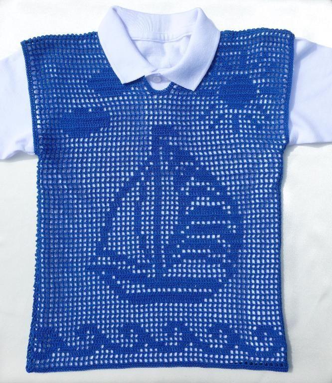 filet crochet boys vest free pattern
