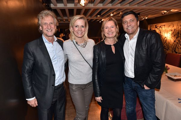 (L-R) Willy Umland, Nicole Umland, Tamara Sturm and Sven Sturm during the opening of the new Palaishalle at Hotel Bayerischer Hof on November 9, 2016 in Munich, Germany.