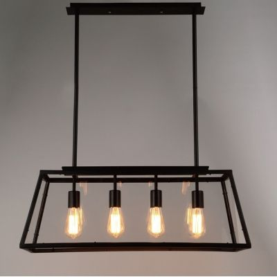 Large Lantern Industrial Pendant with Trapezoid Iron Outshape & 26 best Kitchen lighting images on Pinterest   Kitchen lighting ... azcodes.com
