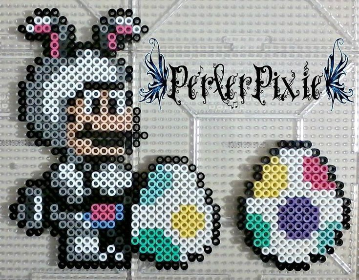 Mario Easter bunny perler beads by PerlerPixie