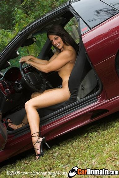 girls revving cars