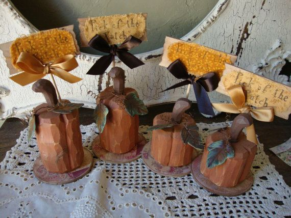 Thanksgiving  Pumpkin table decorations wooden Country Cottage Fall home decor wooden pumpkin signs Pick of the Patch