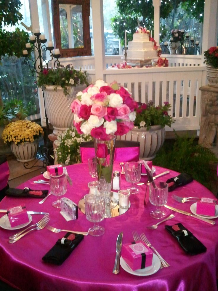 Ideas - Kissing Ball (flower ball) table centerpiece is perfect for Bar/ Bat Mitzvah, Quinceaneras and Sweet 16's. Elegant table decorations.