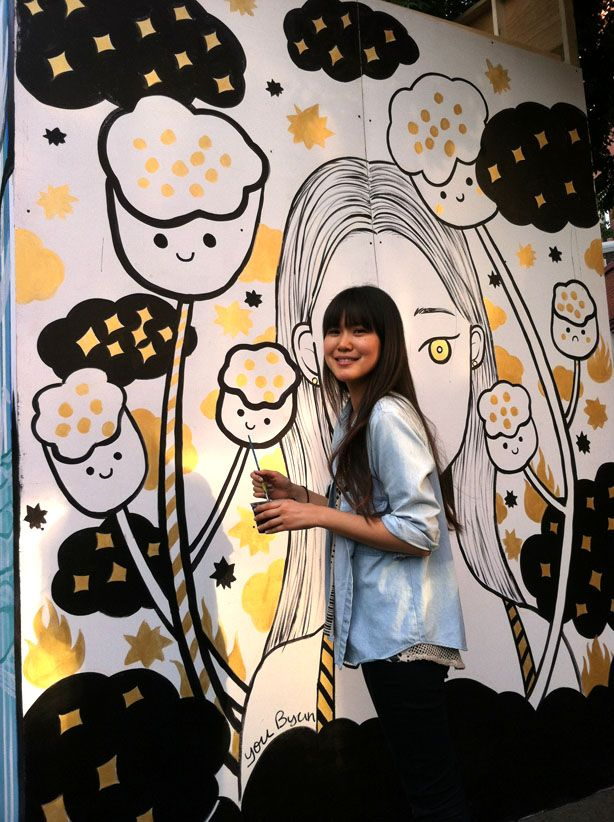 Live Painting in NYC by You Byun