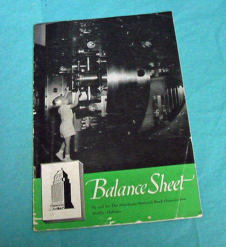 1952 Mobile Alabama Merchants National Bank Balance Sheet Booklet News Bolling