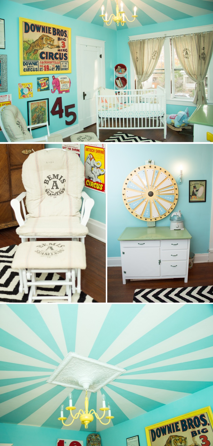 Adorable theme and colors for gender neutral baby/kid room