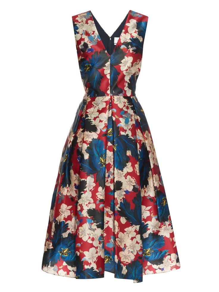 Loren Ohana-print silk dress   Erdem   MATCHESFASHION.COM AU