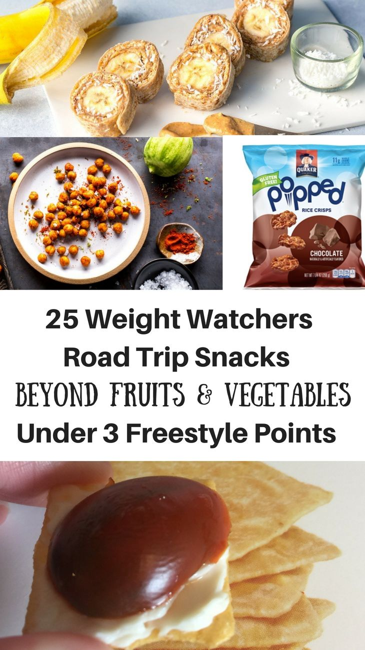25 Weight Watchers Road Trip Snacks Beyond Fruits & Vegetables Under 3 Freestyle Points Each that will help you stay on track and not bust through all your weeklies.
