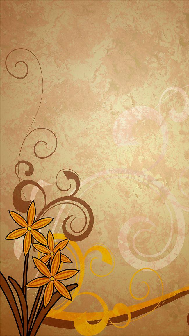 الرجعية قديم زخارف نباتية أصفر خلفية الحدود مركب الحبوب بسيطة معلومات أساسية H5 براون Flower Background Design Roses Drawing Calligraphy Art