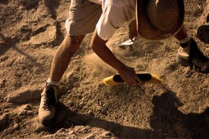 Digging up hominids with archaeologists Professor Lee Berger, University of the Witwatersrand