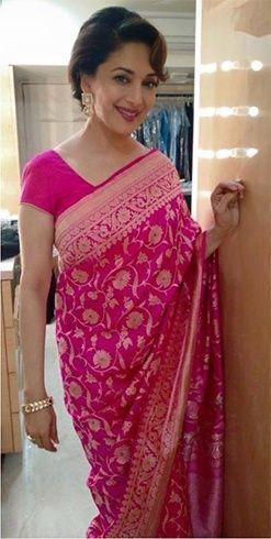 Madhuri Dixit Saree                                                                                                                                                     More