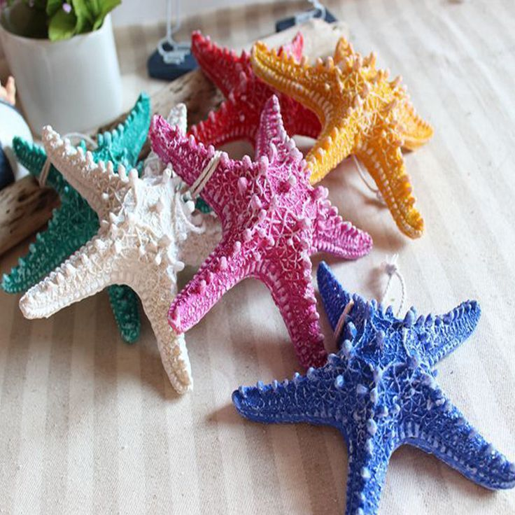 Starfish Pendant Wall Color Resin Home Furnishing Mediterranean Style Decoration