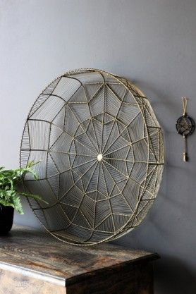 Decorative Brass Wire Display Bowl