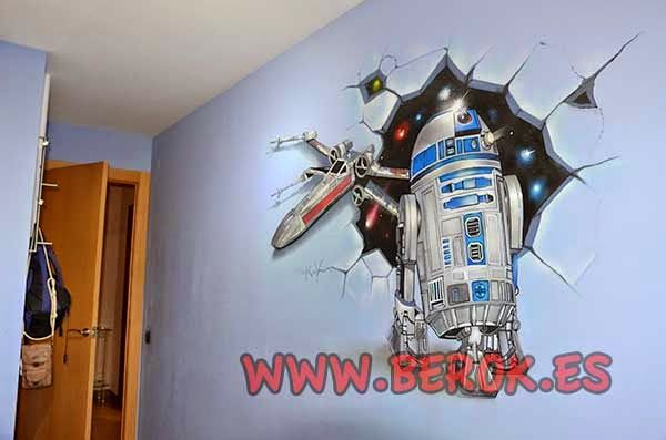 17 best images about game room on pinterest graffiti for Decoracion de cuarto star wars