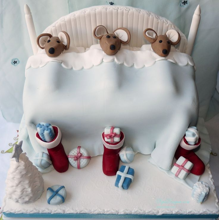 Christmas cakes ideas pics | ... and ideas on how I made this 'Twas the Night Before Christmas Cake