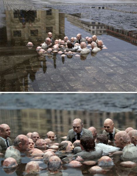 berlin installation by isaac cordal