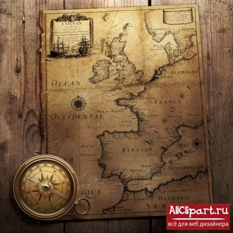 Старинные пиратские карты в высоком разрешении