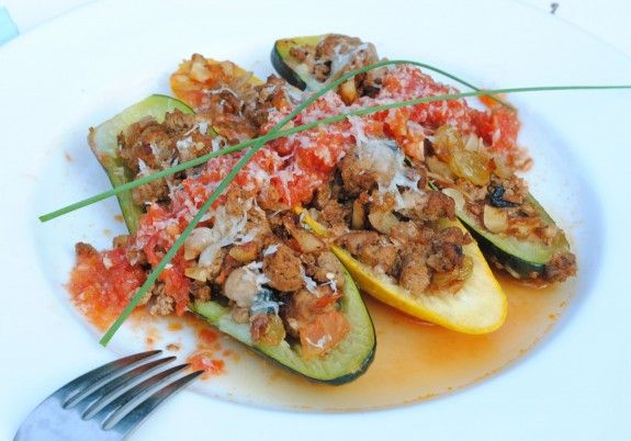 Baked Zucchini Boats | Bev Cooks