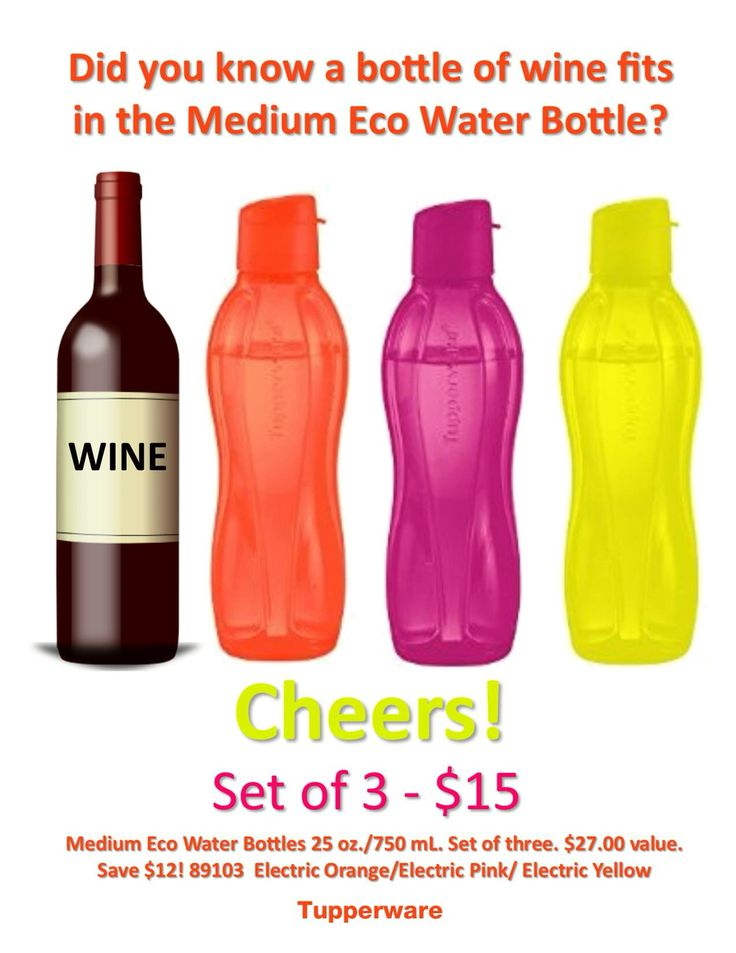 I am a Tupperware consultant, and this week sales are our Eco water bottles please feel free to call or text me with orders 970-371-3097