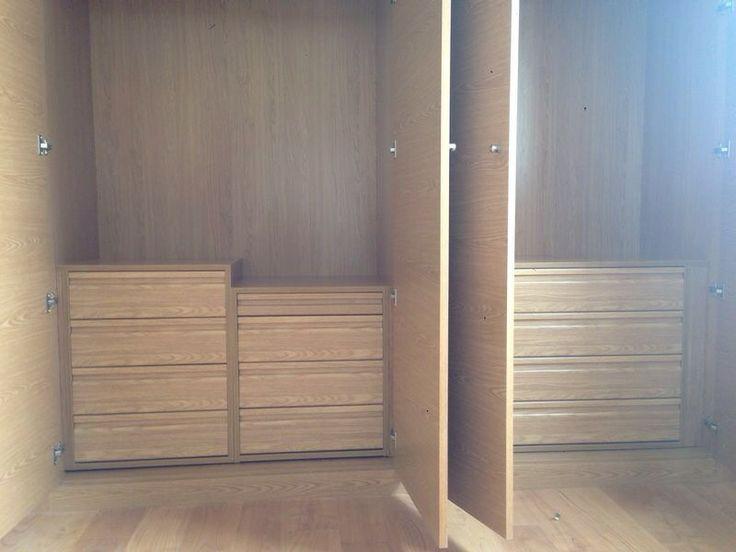 Cajoneras frente postformado roble espu a interiores de - Cajoneras interior armario ...