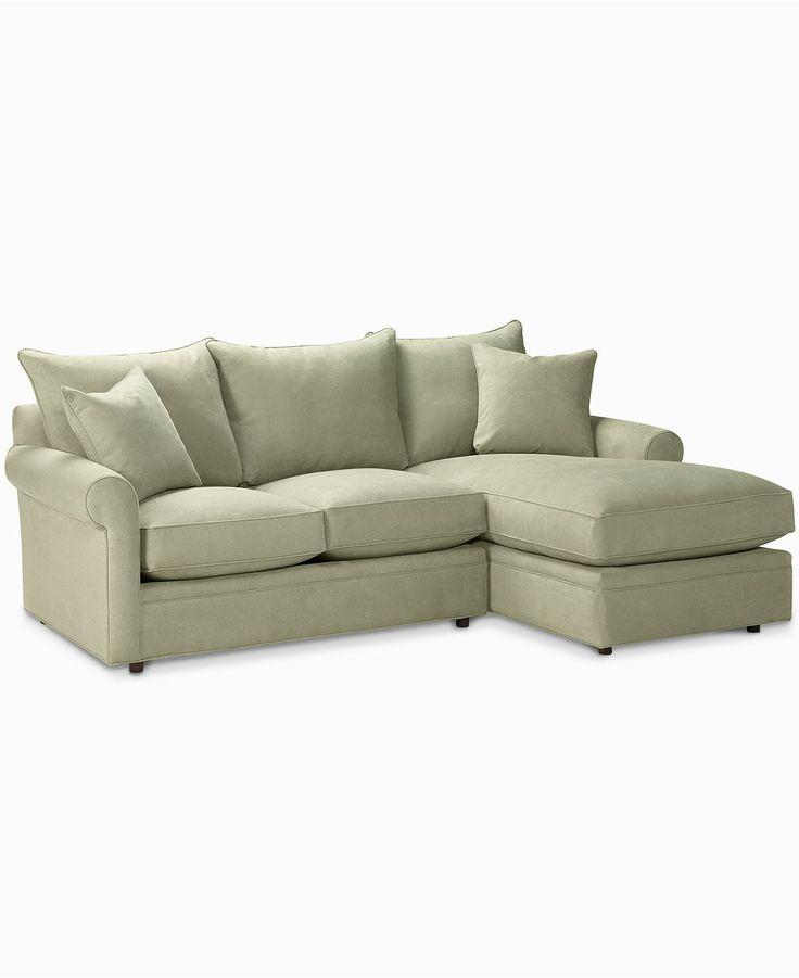Doss Fabric Microfiber Sectional Sofa 2 Piece Loveseat