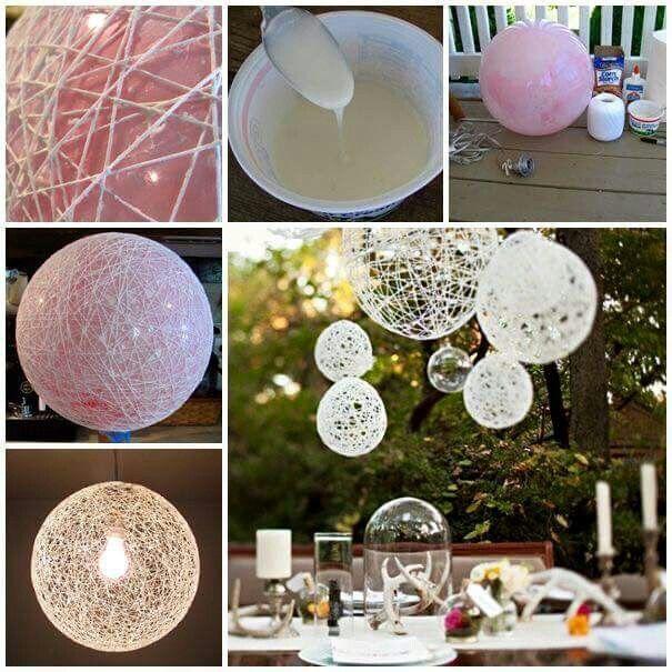 Balon kullanarak yapılan dekoratif avize yapımı