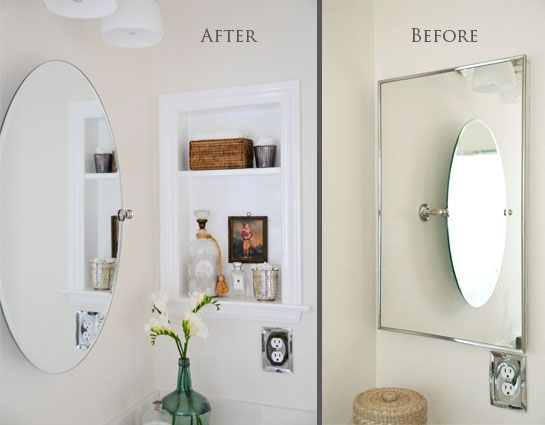 love how she just took off the mirror of the medicine cabinet and turned it  into - Best 20+ Medicine Cabinet Makeovers Ideas On Pinterest Bath