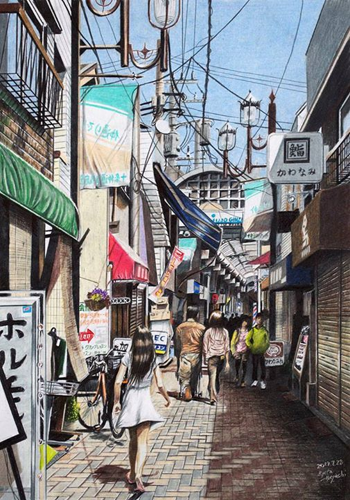 Colored Pencil Artist Ryota Hayashi Tokyo Sketch