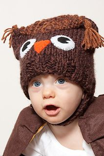 Free Knitting pattern for this cute baby owl hat. Do you give a hoot? ;-)