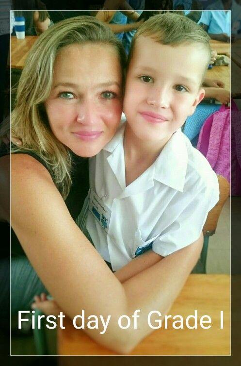 Reinhardt's first day of school, Grade 1 2016