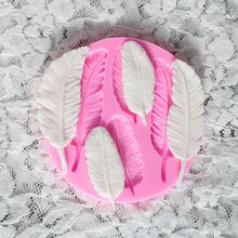 3D перо плесень, Fondant торт украшение инструмент искусства, конфеты Смола Клей силиконовый Cupcake Печенье Sugarcraft Обледенение Кружева плесени (Китай (материк))