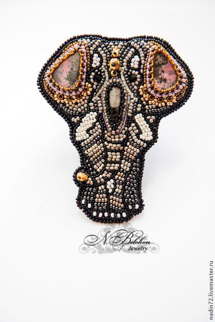 Броши ручной работы. Ярмарка Мастеров - ручная работа Брошь-слон. Handmade. elephant