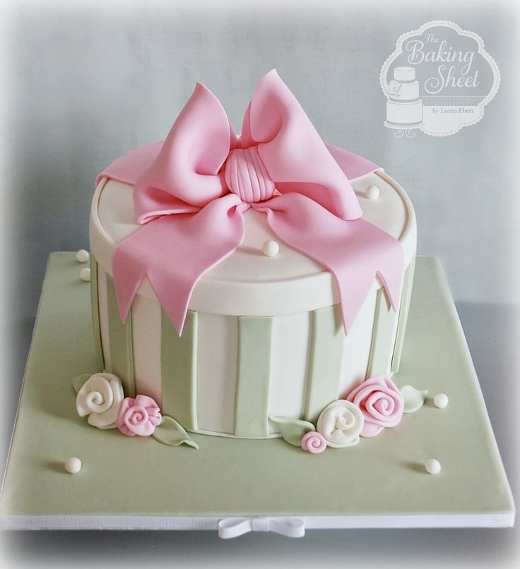 hat box cakes | Fondant Finish and Gumpaste Decoration.