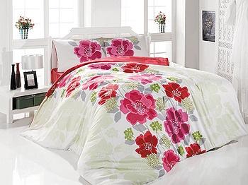 Lenjerie de pat din bumbac, pentru 2 persoane - Palette rosu - LENJERII DE PAT - Lenjerii de pat Clasy - Lenjerii economice
