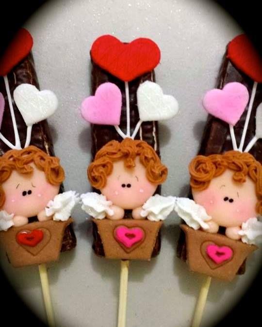 bombon con chocolate y angeles de amor! | Bubulubus decorados ...