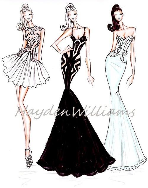 Hayden Williams Fall Winter 2012 - 2013: Couture Spring Summ, Fashion Sketchbooks, Williams Haute, Fashion Design, Hayden Williams, Couture Springsumm, Williams Fashion, Fashion Illustrations, Haute Couture