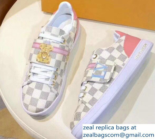 b67b9cab11c Louis Vuitton Summer Trunks Damier Azur Canvas Frontrow Sneakers 1A43GN 2018