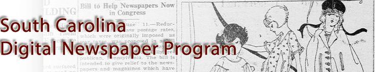 South Carolina Digital Newspaper Program #gentipjar #genealogy #newspapers