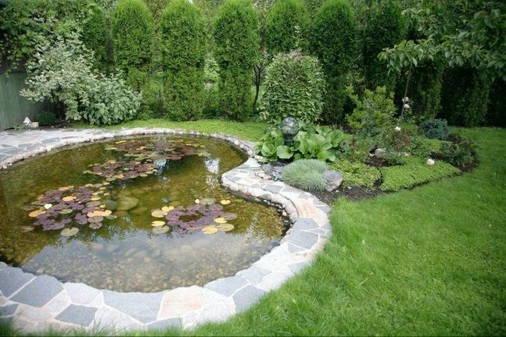 Gartenkunst Wasserpflanzen im Teich Form des Gartenteichs bestimmen