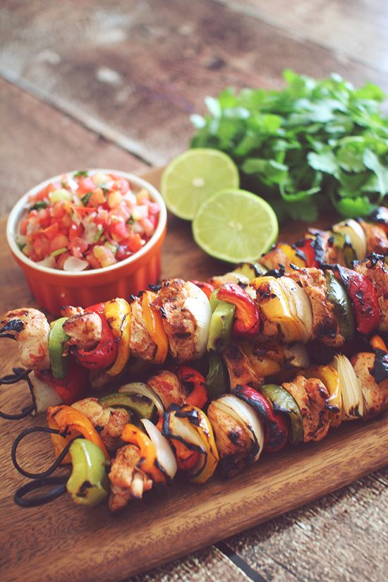 Marinated Chicken Fajita Kabob's
