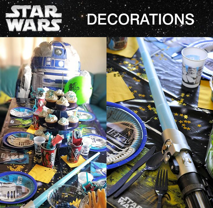 183 best images about birthday party ideas for kids on for Star wars decorations