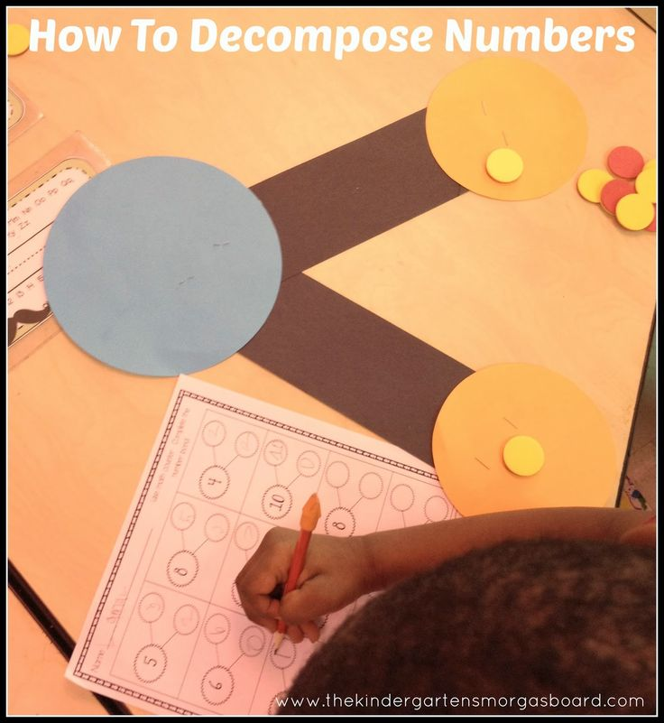 Decomposing numbers with number bonds! This skill helps with addition and subtraction!