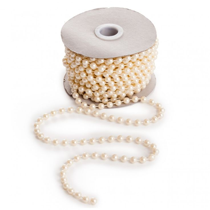 Ivory Pearl String EF Strings Wholesale Wedding Supplies Discount Favors Party And Bulk Event