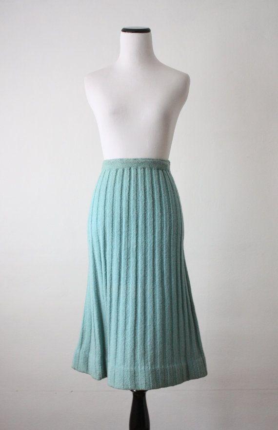 1940's knit tulip skirt