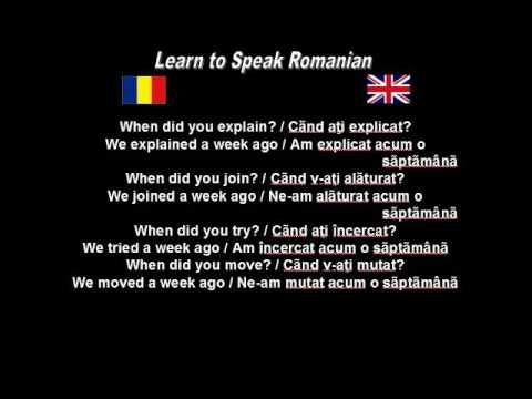 Learn to Speak Romanian: 35. Learning past tense 2