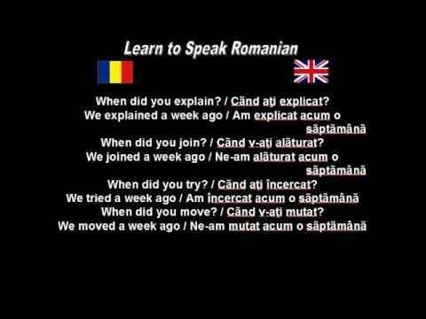 Learn to Speak Romanian: 35. Learning past tense 2